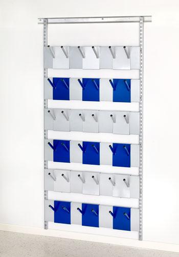 Kapprumsinredning ALEA boots 48, dubbelstativ golv, påbygg sektion, bredd 900 mm