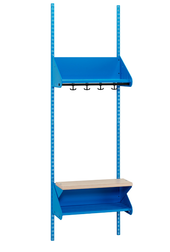 Inredningssystem BST, grundsektion, 1000x300x270 mm, inkl sittbänk, utan m vägg