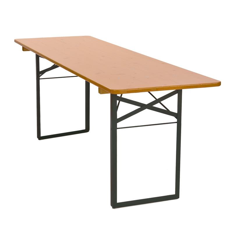 Omtyckta Hopfällbart bord 2200x670 mm, höjd 780 mm, massiv skiva HI-29